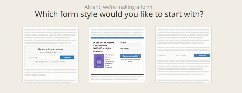 Design Convertkit forms