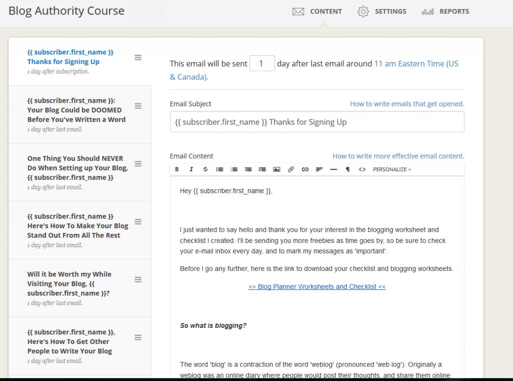Manage Convertkit Courses