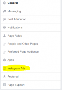Instagram ads facebook setting