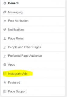Instagram ads facebook setting