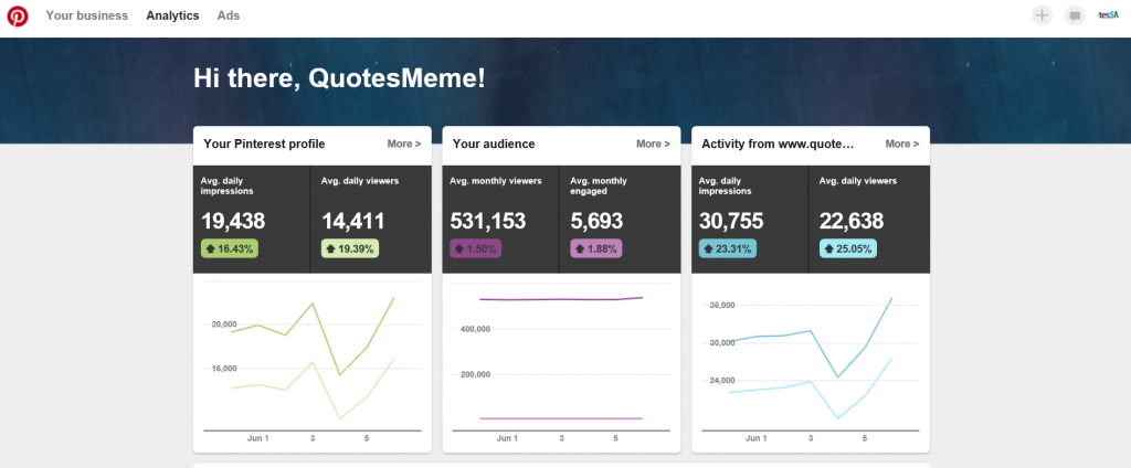 Pinterest Analytics Image