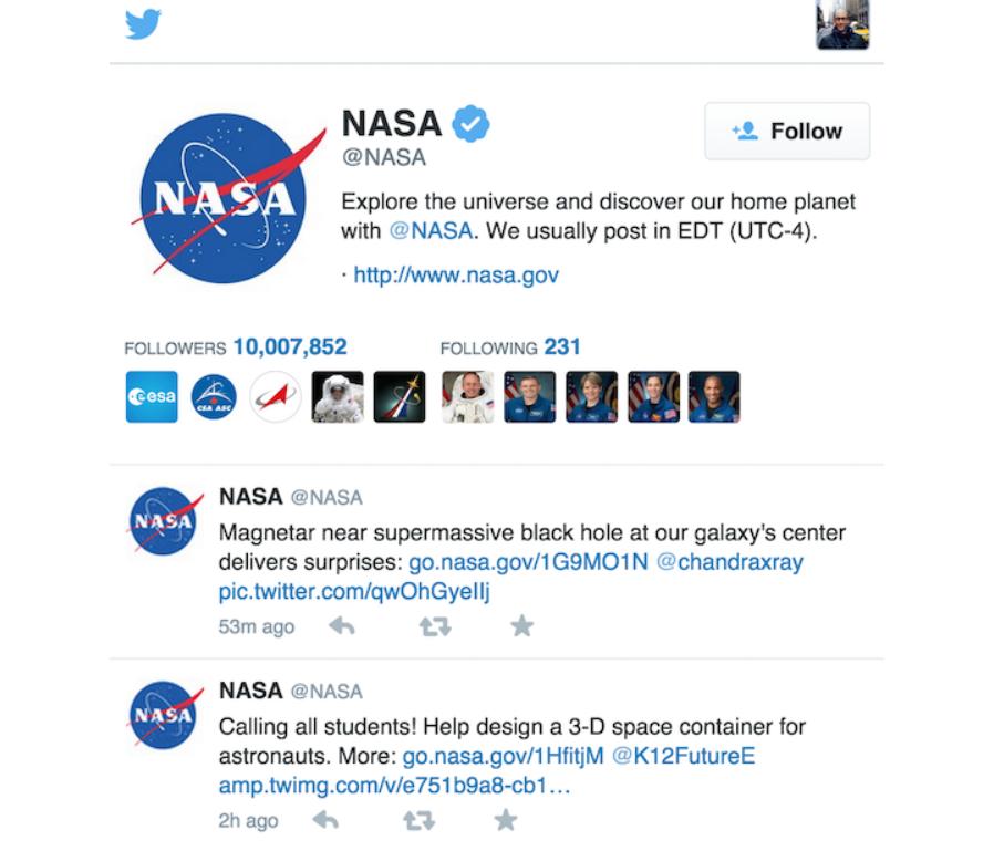 nasa-twitter-page