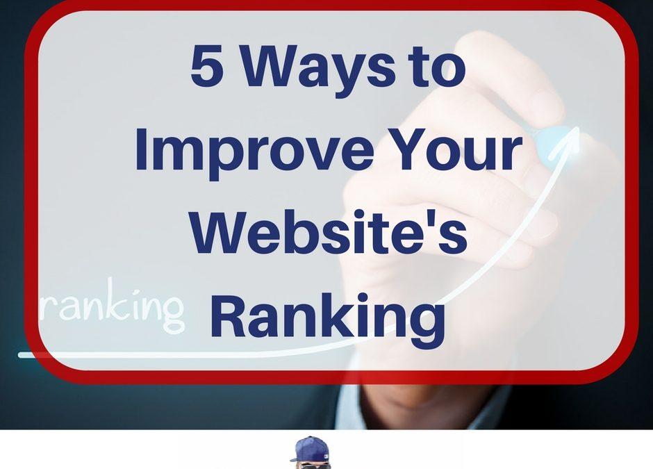 5 Ways to Improve Your Website's Ranking
